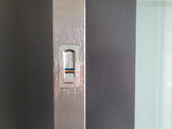 Referenz   R. & U. Winkenbach GmbH   Integration des Fingerscan's im Außengriff